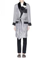 Lanvin Rosette stripe satin pyjama jacket