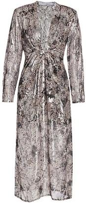 IRO Rouniea Plunging Midi Dress