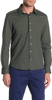 Stone Rose Circle Dot Regular Fit Knit Shirt