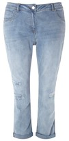 Evans Plus Size Women's Repaired Boyfriend Jeans