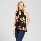 Mossimo Women's High Neck Keyhole Top