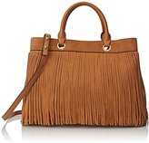 Milly Essex Suede Fringe Tote Convertible Top Handle Bag