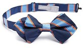 Nordstrom Boy's 'Mike Stripe' Silk Bow Tie