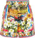 dolce gabbana printed silktwill shorts