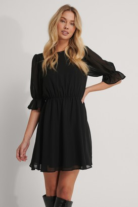 NA-KD Puff Sleeve Chiffon Dress