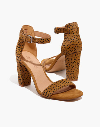 Madewell The Brooke Ankle-Strap Sandal in Spot Dot Calf Hair
