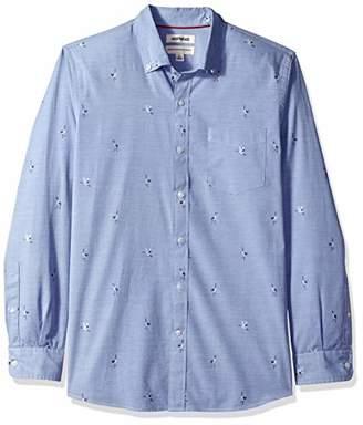 Goodthreads Men's Standard-fit Long-sleeve Dobby Sport Shirt,Small