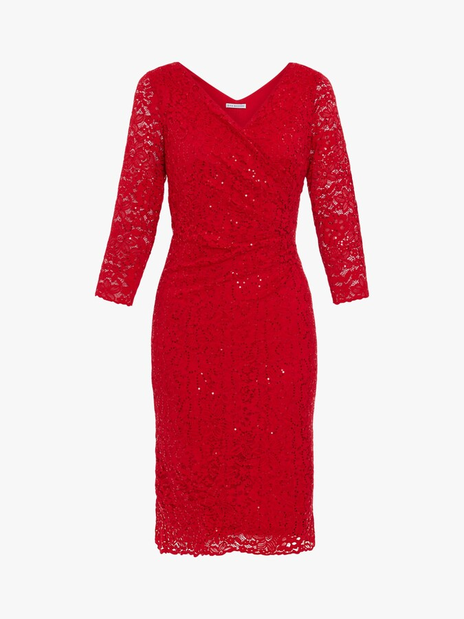 Thumbnail for your product : Gina Bacconi Belle Lace Wrap Dress