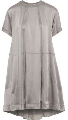 Valentino Hammered-satin Mini Dress