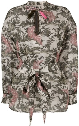 Bazar Deluxe Nature-Inspired Print Long-Sleeve Blouse