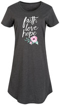 Instant Message Women's Women's Casual Dresses HEATHER - Heather Charcoal 'Faith Love Hope' Flowers Short-Sleeve Dress - Women & Plus