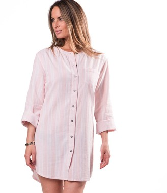 Naked Women's Essential Cotton Button-up Sleeping Shirt