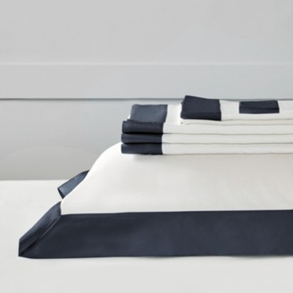 The White Company Camborne Flat Sheet, Midnight, Double