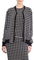 Akris Punto Grid Knit Bomber Jacket