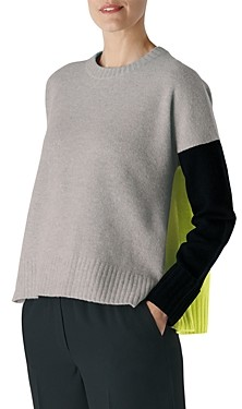 Whistles Freida Colorblocked Wool Sweater