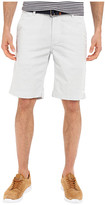 U.S. Polo Assn. Horizontal Stripe Flat Front Belted Shorts