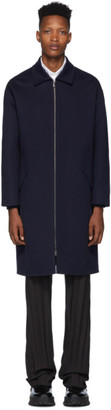 Valentino Navy Wool Coat