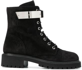 Giuseppe Zanotti Metallic Strap Ankle Boots