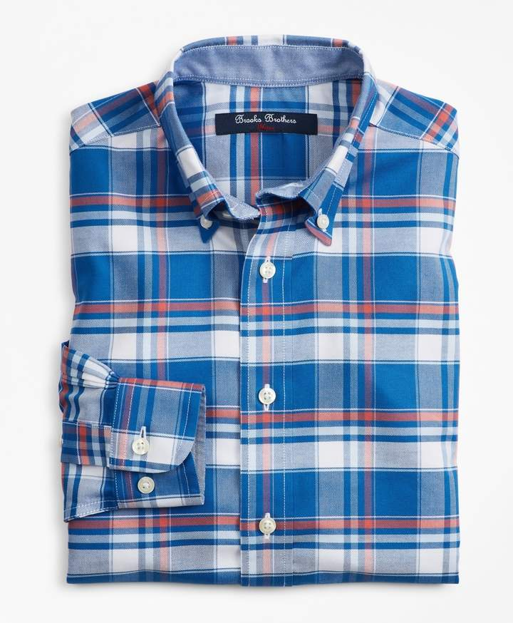 Brooks Brothers Boys Non-Iron Supima Cotton Plaid Sport Shirt