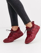 Asos Design DESIGN Division knitted sneakers in burgundy