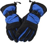 Simplicity Men's Winter Waterproof Ski Gloves for Sports & Camping,Blue Black