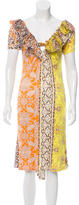 Roberto Cavalli Silk Abstract Print Dress