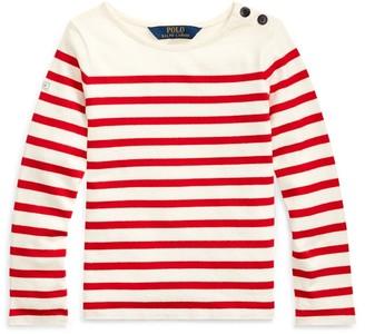 Ralph Lauren Striped Cotton Jersey Top