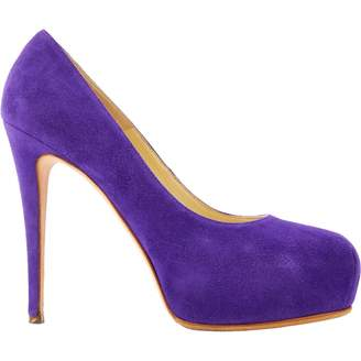 Brian Atwood Purple Suede Heels