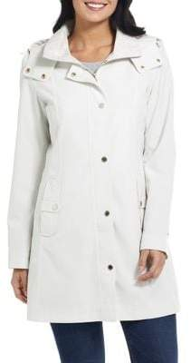 Gallery Petite Hooded Convertible A-Line Raincoat