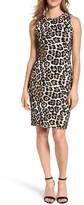 MICHAEL Michael Kors Women's Animal Print Sheath Dress