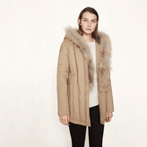 Maje Parka belted at the waist