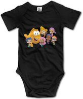 Kra8er Bubble Guppies Cartoon Unisex Boys Girls Baby Bodysuit Onesies 100% Cotton