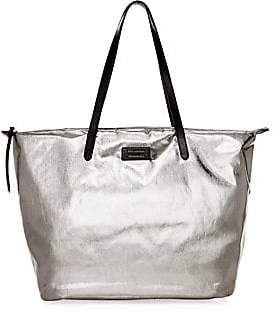 Rebecca Minkoff Women's Metallic Washed Nylon Tote
