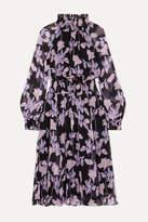 Diane von Furstenberg Athena Floral-print Silk-georgette Midi Dress - Purple