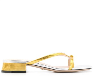 Gucci Bow Thong Sandals