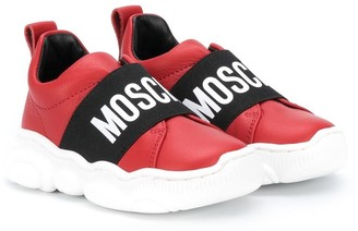 MOSCHINO BAMBINO Logo Patch Sneakers