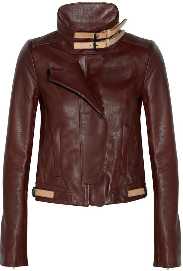 A.L.C. Shaw textured-leather biker jacket