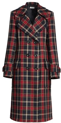 Dries Van Noten Double-Breasted Plaid Jacket