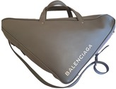 Balenciaga Triangle Grey Leather Handbags