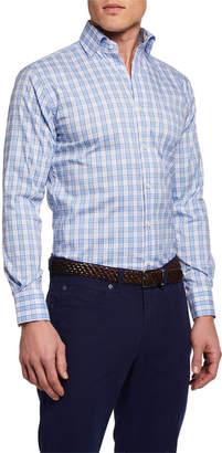 Peter Millar Men's Long-Sleeve Portofino Tartan Sport Shirt