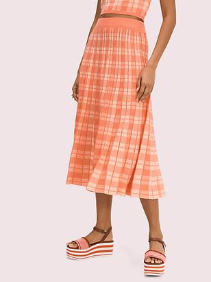 Kate Spade Plaid Knit Skirt