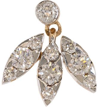 Marquis 3 and Round Diamond Stud