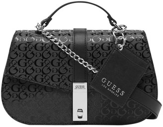 GUESS FF765119BLA Skyla Flap Over Shoulder Bag