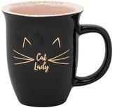 10 Strawberry Street Cat Lady Rimmed Porcelain Mug