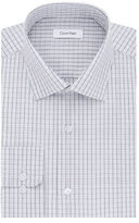 Calvin Klein Grid-Print Cotton Dress Shirt