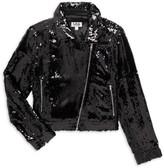 Mia New York Little Girl's & Girl's Sequin Motorcycle Jacket