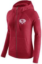 Nike Women's San Francisco 49ers Gym Vintage Full-Zip Hoodie