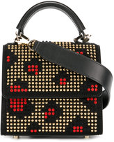 Les Petits Joueurs fold over studded tote bag