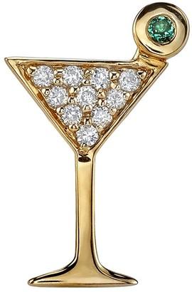 Sydney Evan Martini Glass Single Stud Earring - Yellow Gold