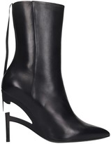 Taverniti So Ben Unravel Project High Heels Ankle Boots In Black Leather